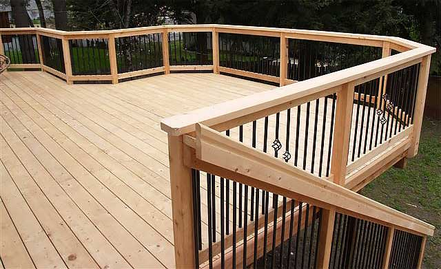 Port Orford Finished Cedar Deck